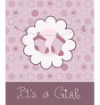 arrival baby card vector image vector image