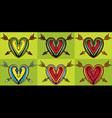 snake body silhouette heart shape arrow vector image