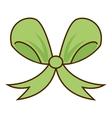 ribbon bow green icon vector image