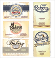 Set of 5 bakery business card templates vector image