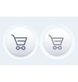 Shopping cart line icon modern button vector image