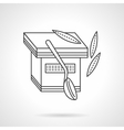 Thin line yogurt cup icon vector image