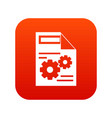web setting icon digital red vector image