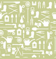 gardening seamless pattern design with cute flat vector image