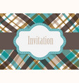 invitation design card vector image vector image
