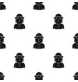 firefighter icon in black style isolated on white vector image