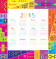 2015 calendar with frame for kids vector image vector image