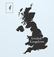 Map of United Kingdom Great Britain or England vector image