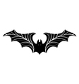 Bat with stylized wings vector image