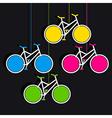 Bicycle hang info-graphics design vector image