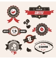 Coffee labels and badges Vintage set Retro style vector image