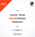 Discount 95 Discounts price tag Black Friday vector image