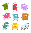 funny and cute cartoon book characters vector image