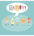 Funny Ice Cream vector image