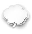 Paper white cloud bubble vector image