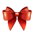 Red gift bow and ribbon vector image