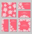 rose flower pink set vector image