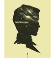 vintage astronomic poster vector image