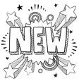 doodle pop new vector image