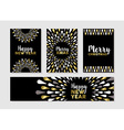 Christmas and new year set of gold card designs vector image vector image