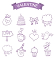 Vetcor of valentine icons vector image