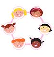 unity  multi cultural woman vector image vector image