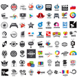 large set of logos photo and video production vector image vector image