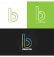 letter B logo alphabet design icon set background vector image