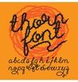 Thorn alphabet font vector image
