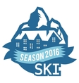 Ski resort logo emblems labels badges vector image