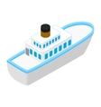 Cruise sea ship isometric 3d icon vector image