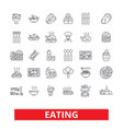 eating food restaurant menu family cafe tasting vector image