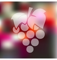 grapes icon on blurred background vector image