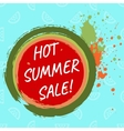 Hot summer sale template vector image