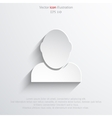 icon of businessman vector image