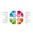 infographic timeline template with icons vector image