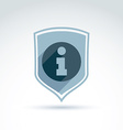Information protection theme icon with shield vector image