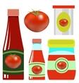 Set opf Tomato Ketchups vector image