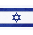 True proportions Israel flag with texture vector image