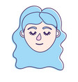 woman head with closed eyes and hairstyle vector image