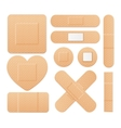 Aid Band Plaster Strip Medical Patch Set vector image