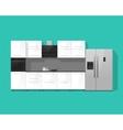 Kitchen interior cabinets furniture vector image