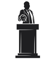 man giving speech vector image