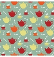 Teapots and teacups vector image