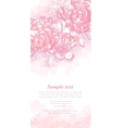 Romantic background with pink chrysanthemum vector image vector image