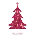 decorations flags Christmas tree silhouette vector image