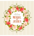 Wedding card with gibiscus flowers vector image vector image
