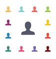 profile flat icons set vector image
