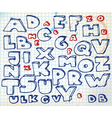 alphabet doodle vector image vector image