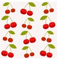 Background with red cherries vector image vector image